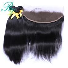 Riya Hair Brazilian Straight Hair Weave Bundles Lace Frontal Closure With Bundles Remy Human Hair 3 Bundles With Frontal