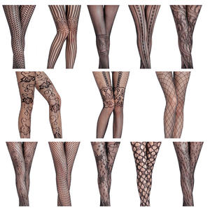 Fishnet Pantyhose Lingerie Stockings Garter Women's Tights Elastic Transparent Sexy High-Waist