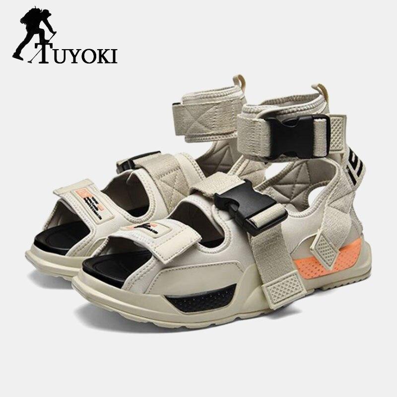 FitWee nouveau été sandales mode baskets quotidien hommes chaussures Patchwork antidérapant boucle séchage rapide hommes chaussures taille 39-44