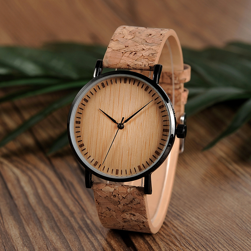Zegarek drewniany Bobo Bird Cork E19 9