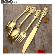 Cutlery Sets European Luxury Golden