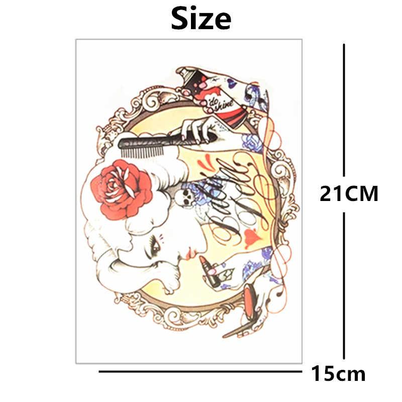 SHNAPIGN Сексуальная Цветочная вспышка для девушек, тату-наклейка 21*15 см, водонепроницаемая татуировка, Харадзюку, хна тату, временная Наклейка на стену