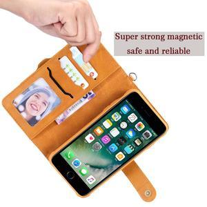 Image 5 - Flip Case for iPhone 7 8 Plus Luxury Detachable Leather Wallet Phone Cases Magnet Cover for iPhone 11 Pro 8 Plus 7Plus XS XR X