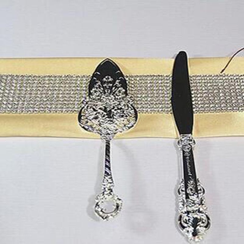New Luxury Metal Wedding Cake Server And font b Knife b font Set For Wedding Party