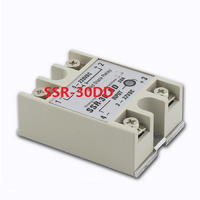 SSR-30DD single phase DC solid state relay 30A DC control DC 24V solid state relay 20dd ssr control 3 32vdc output 5 220vdc single phase dc solid state relay 20a yhd2220d