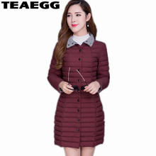 TEAEGG Plus Size Winter Jacket Women Manteau Femme Hiver Thin Womens Jackets And Coats Cotton Parkas Mujer Invierno 2017 AL319