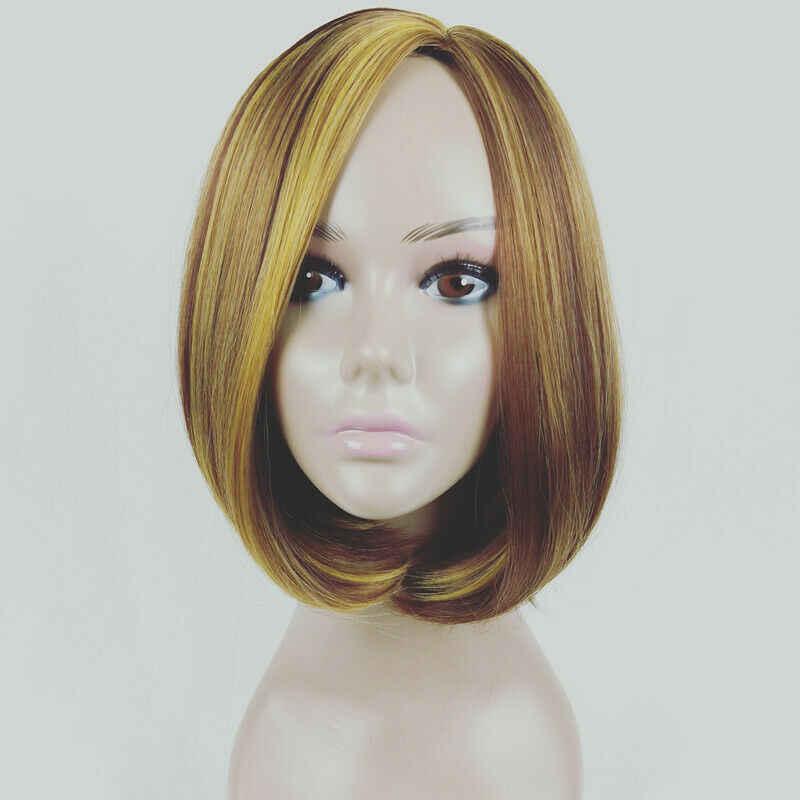 Короткие Синтетические волосы на кружеве человеческие волосы парик блондинка человеческие волосы Синтетические волосы на кружеве al парик бразильские волосы парик для черных Для женщин