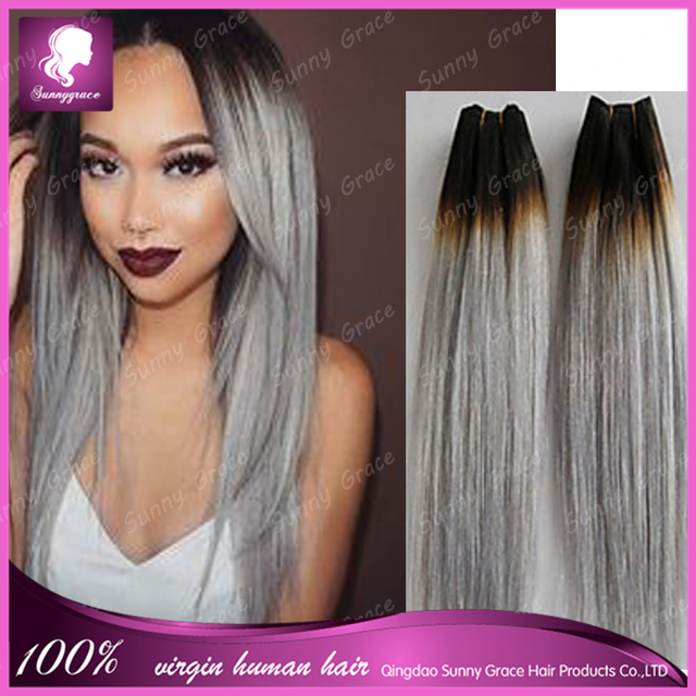 Malaysian ombre 1bgrey color human virgin hair weave bundle dark malaysian ombre 1bgrey color human virgin hair weave bundle dark roots black hair weft pmusecretfo Images