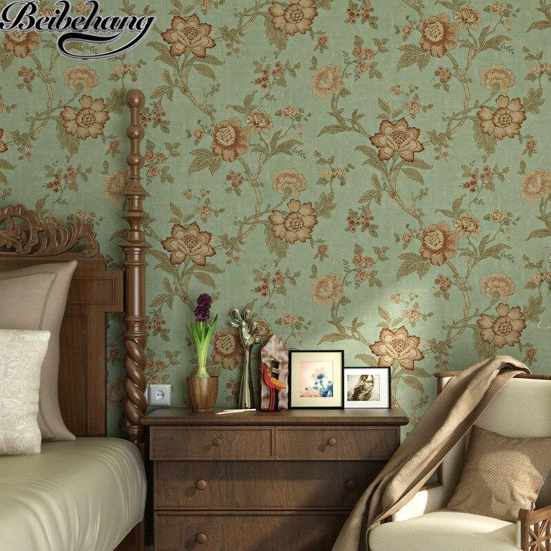 Beibehang Vliesbehang Amerikaanse pastorale platteland retro woonkamer eetkamer slaapkamer winkel for a behang bruiloft
