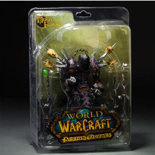 WORLD of WOW UNDEAD WARLOCK NEW BOXED ACTION FIGURE FIGURINES TOY GIFT
