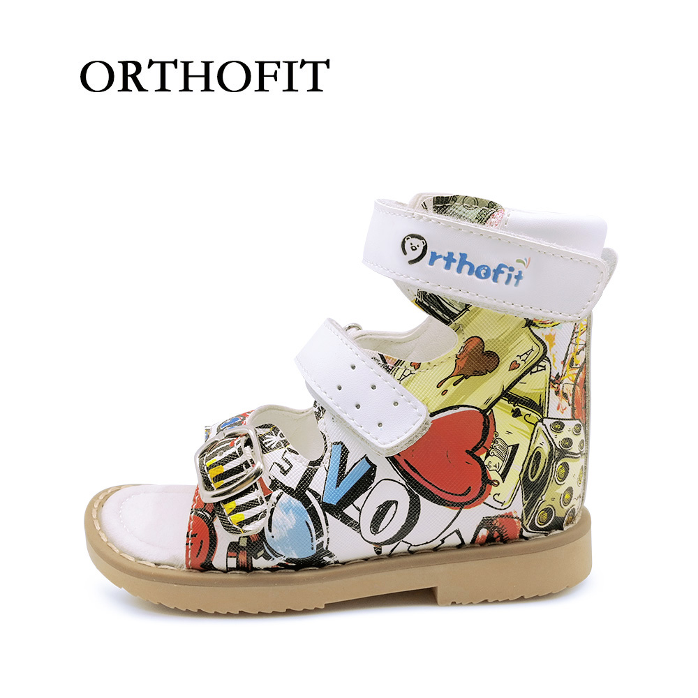 2018 Newest Summer Leather Shoes For Girls Children Sandals Kids Orthopedic Shoes Baby Girl Shoes With Buckle Strap