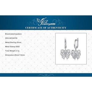 Image 5 - Jpalace ヴィンテージ蝶 cz ブラブラドロップイヤリング 925 純銀製のイヤリング韓国イヤリングファッションジュエリー 2020
