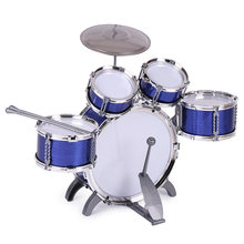 Children Kids Drum Set Musical Percussion Instrument Toy 5 Drums with Small Cymbal Stool Drum Sticks for Boys Girls(China)