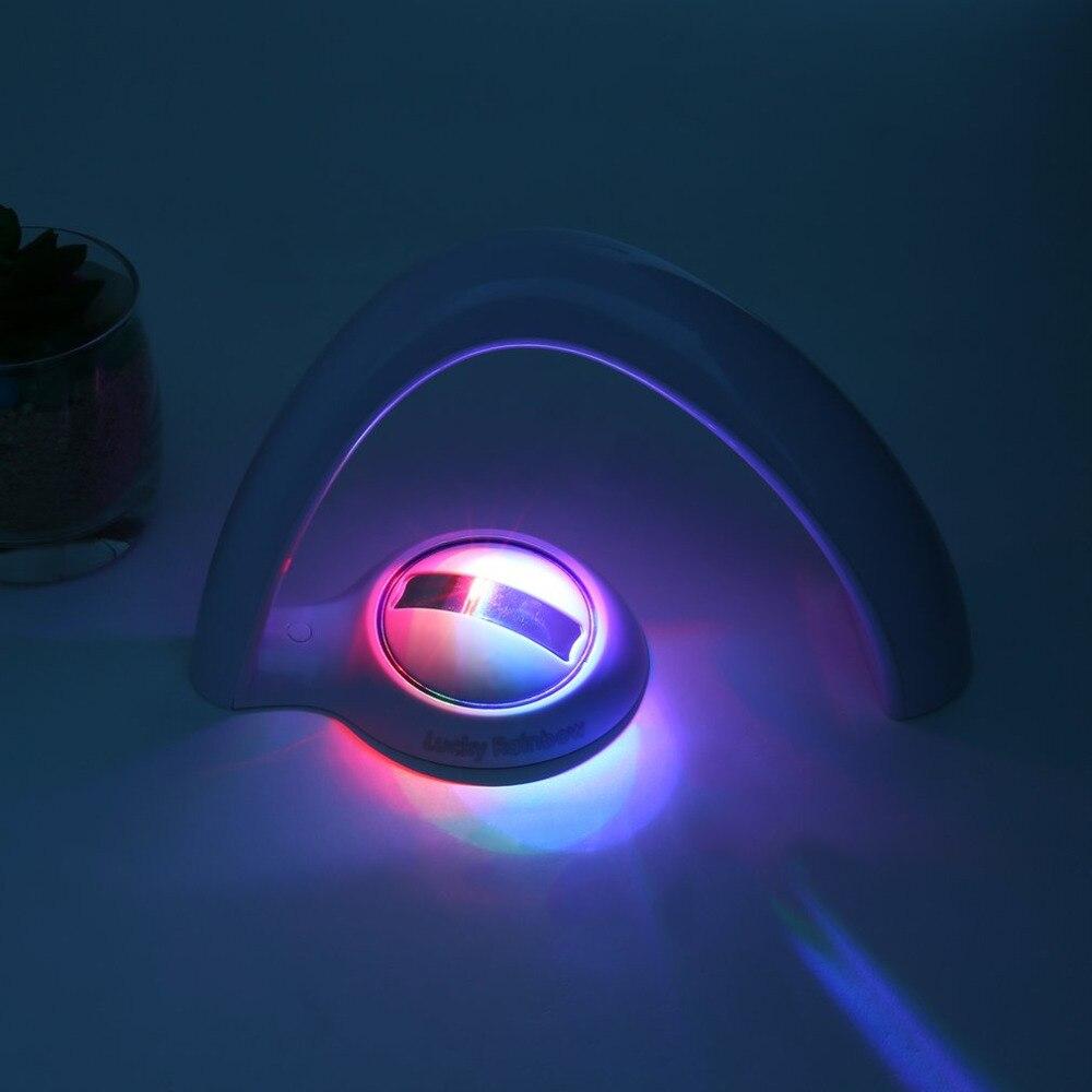 Lucky Rainbow Light Amazing Rainbow Projector 3D LED Lamp Baby Room Night Light Projector Home Decoration
