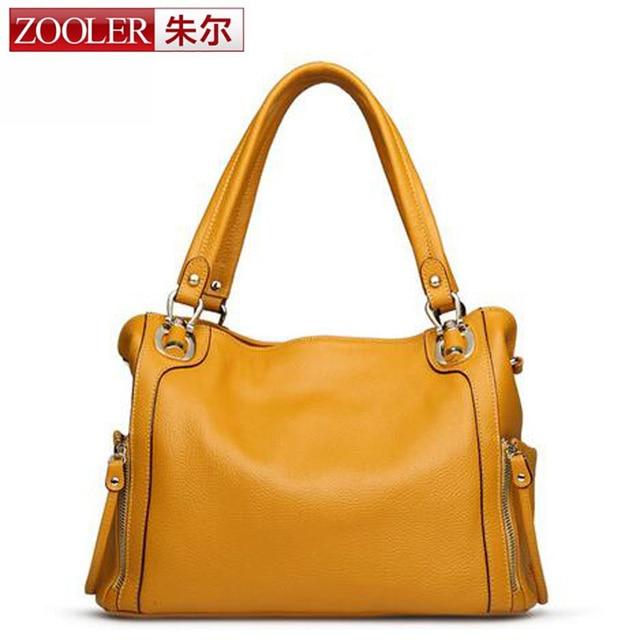 ZOOLER 2017 New Arrive Women Shoulder Bag Genuine Leather Bags Handbags for Women Vintage Handbag Motorcycle Shoulder Bags a sac