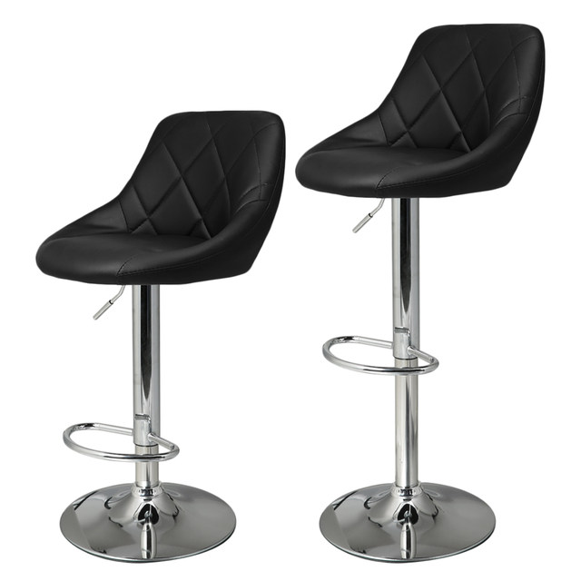 Online Homdox 2pcs Synthetic Leather Swivel Bar Stools Chairs