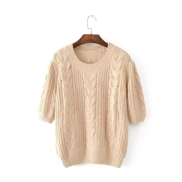 Suéteres de otoño invierno gruesa línea Básica Casual Tejido de ...