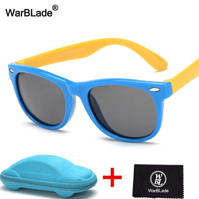b3b9373a3b68b WarBLade 2018 New Polarized Kids Sunglasses Child Baby Safety Coating Sun  Glasses 100% UV400 Eyewear For Boys Girls With Case