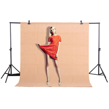 CY Hot Sale 1.6x2m / 5.2 * 6.5ft Khaki photo backgrounds Photography Background Studio Video Nonwoven Fabric Backdrop Screen