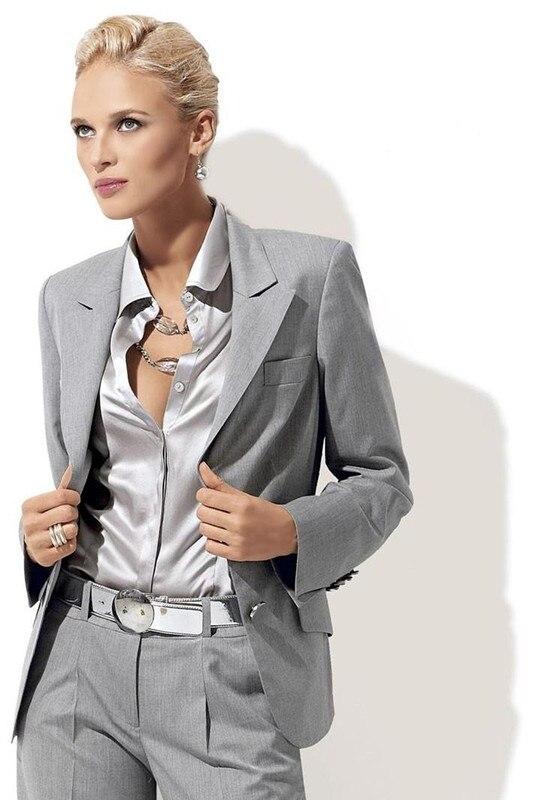 Bouton Mode D'affaires Personnalisé Picture As Gris Clair Femmes Deux Picture Costumes Smokings Revers Pour as 4SFvSwznd