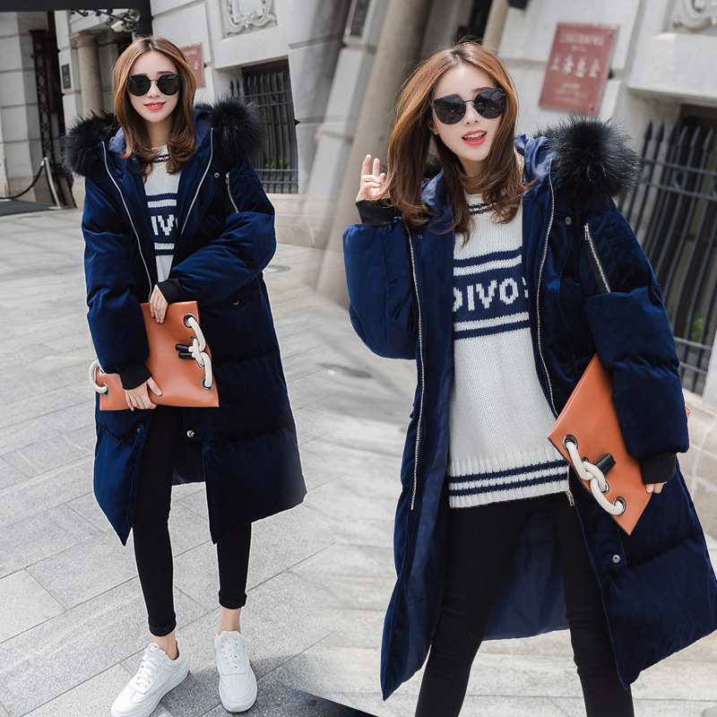New 2017 Winter Jacket Women Cotton Coat Fur Collar Hood Parkas Female Long Jackets Parkas Thick Warm Outerwear Chaqueta Mujer creative wood pendant lamp modern suspension lights bar dining room pendant lamps art deco pendant lights suspension luminaire