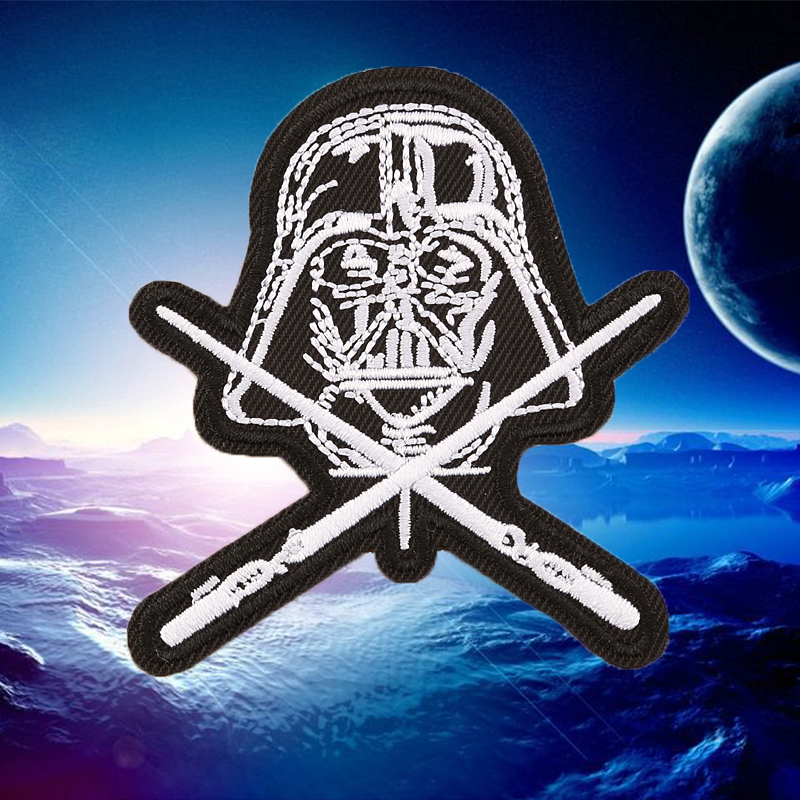 Prajna Star Wars AT-AT Robot Embroidery Badge Vest Punk Motorcycle Biker Appliques Iron On Patches For Clothes Apparel DIY E
