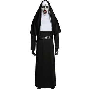 Image 5 - Movie The Nun Cosplay Valak Costume Virgin Mary Monja Deluxe Scary Costumes For Men Women Halloween Party