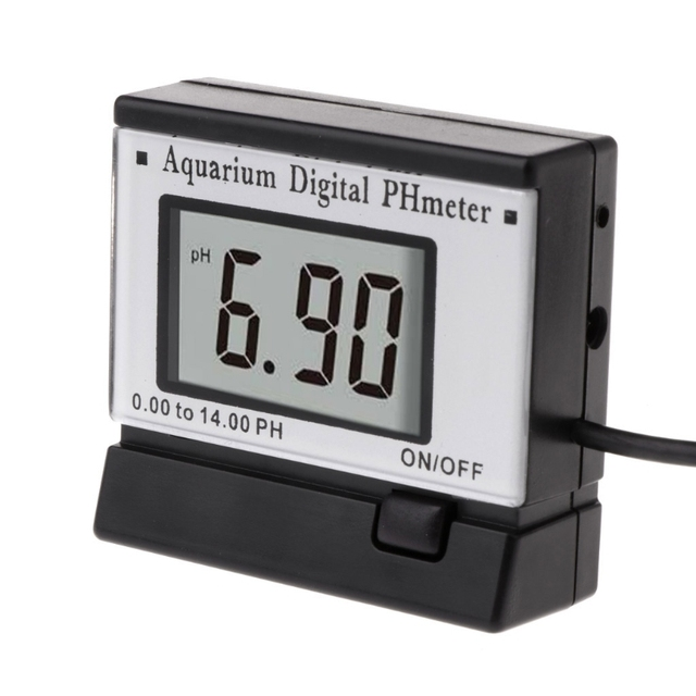 Superb Mini Digital pH Meter Monitors Hydroponics Aquarium Swimming Pool Spa 0.00~14.00