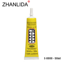 ZHANLIDA E8000 50ml Epoxy Resine Transparent Adhesive Multipurpose Glue for Clothes Shoes Fix Touch Screen Glue Gun