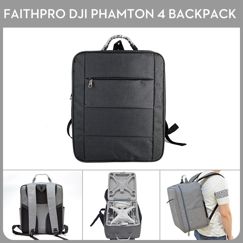 FAITH PRO Brand High Quality DJI Phantom 4 Backpack Shoulder Bag Carrying Case Without Foam Drone Backpack Wearable Device multi fonction drone bag backpack for dji phantom 4 phantom 4 pro plus phantom 3 series xiro drone digital dslr camera bag