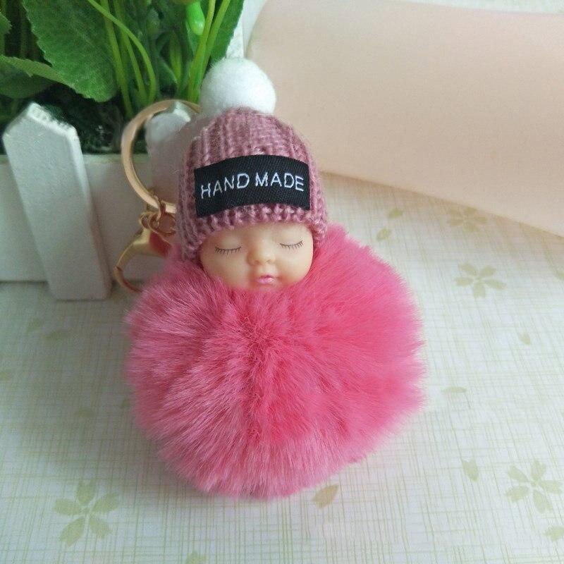 14//16cm Soft Faux Fur PomPom DIY Car Handbag Keychain Fluffy Ball Pendant Call