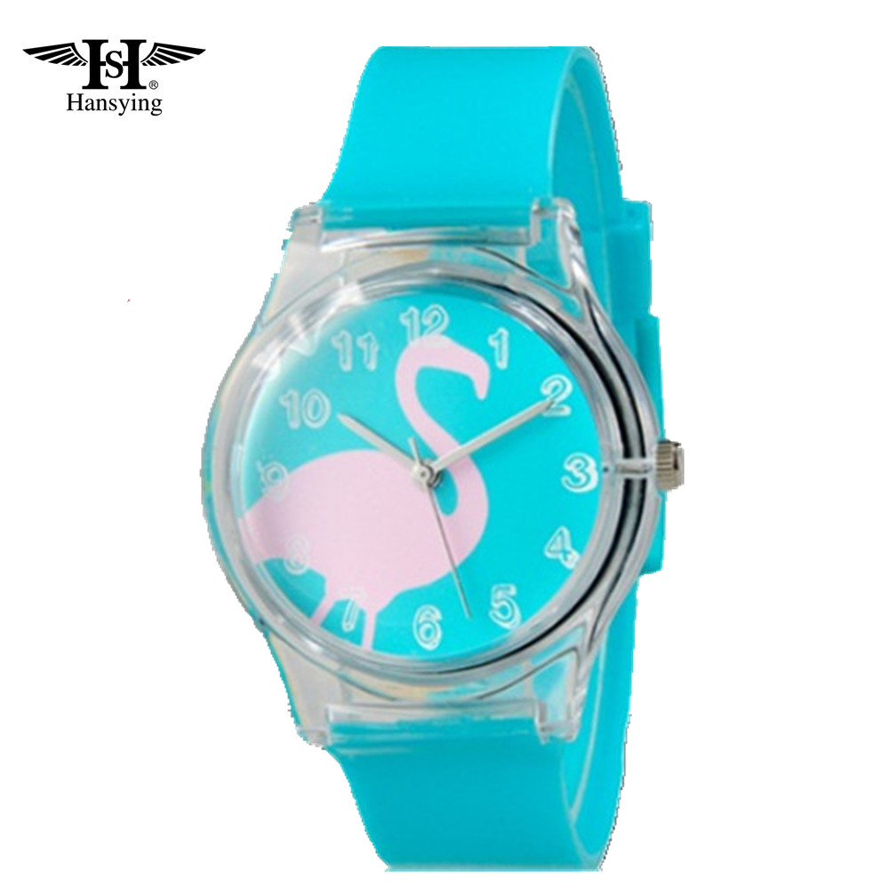 Hansying för Mini Swan Pattern Design Mode kvinnor klär Vattentålig Analog Wrist Quartz Watch Ladies Watch gratis frakt