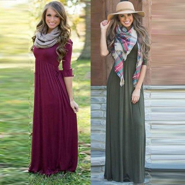 Autumn Winter Women Kids Long Dresses Fashion Elegant Mom Child Long