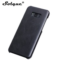 Solque Real Genuine Leather S 8 Case For Samsung Galaxy S8 Plus Ultra Thin Leather Cases