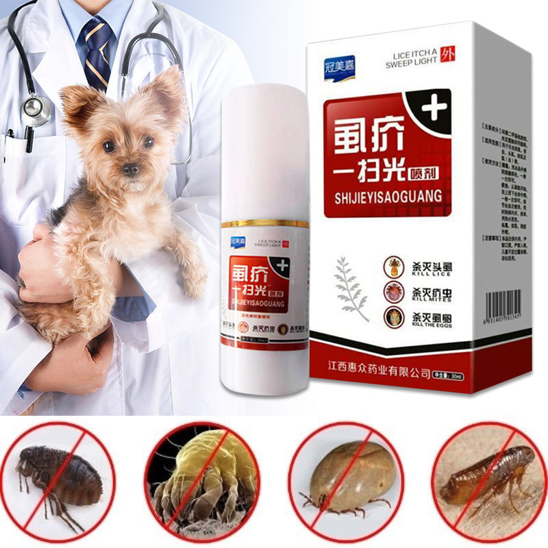 1 Pcs Pet Dog Puppy Cat Insecticide Spray Portable Anti flea Flea Lice Insect Killer Dropshipping FAS in Dog Stain Odor Removers from Home Garden