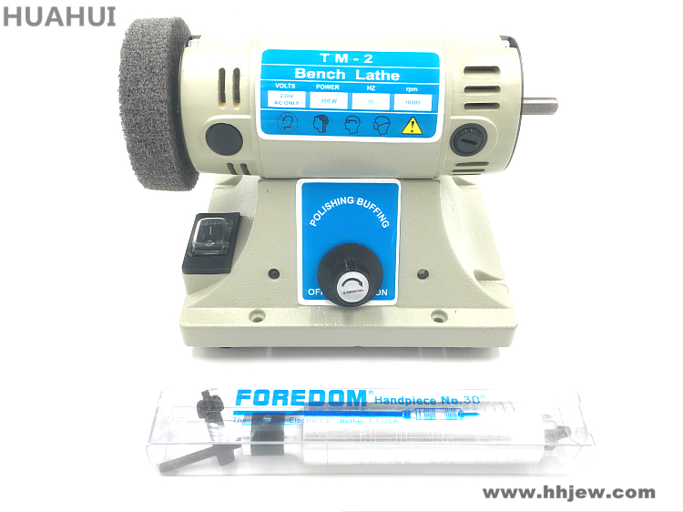 220V 50HZ 350W Bench Lathe Electric Bench Buffer Polisher Buffing Polishing Machine For Jade jewelry