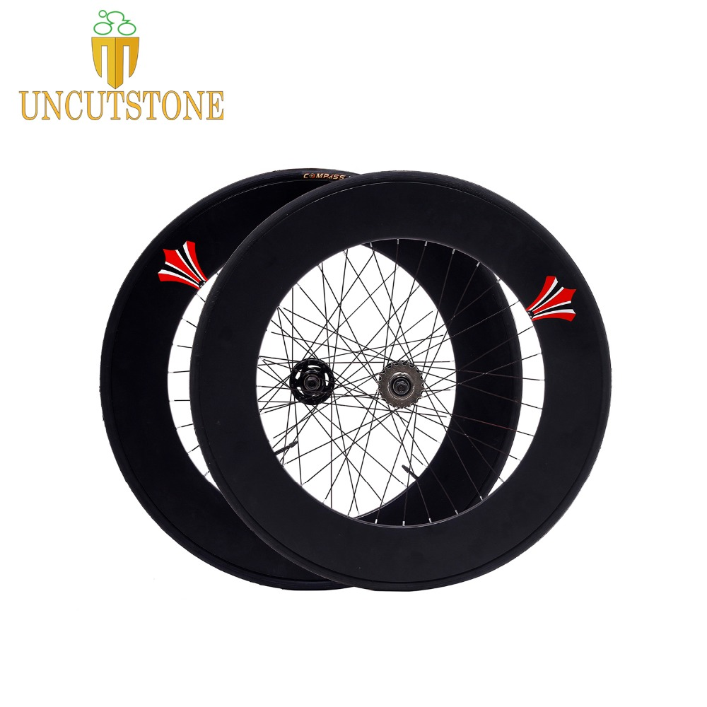 Fixed Gear bike wheel Track bike 90mm RIM aluminum alloy wheelset road bike 700C wheel rim fixie bike lip flop wheel with tire