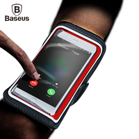 Baseus Waterproof Sports Armband Case For IPhone 7 6 6s Plus Mobile Phone Running Fitness Arm