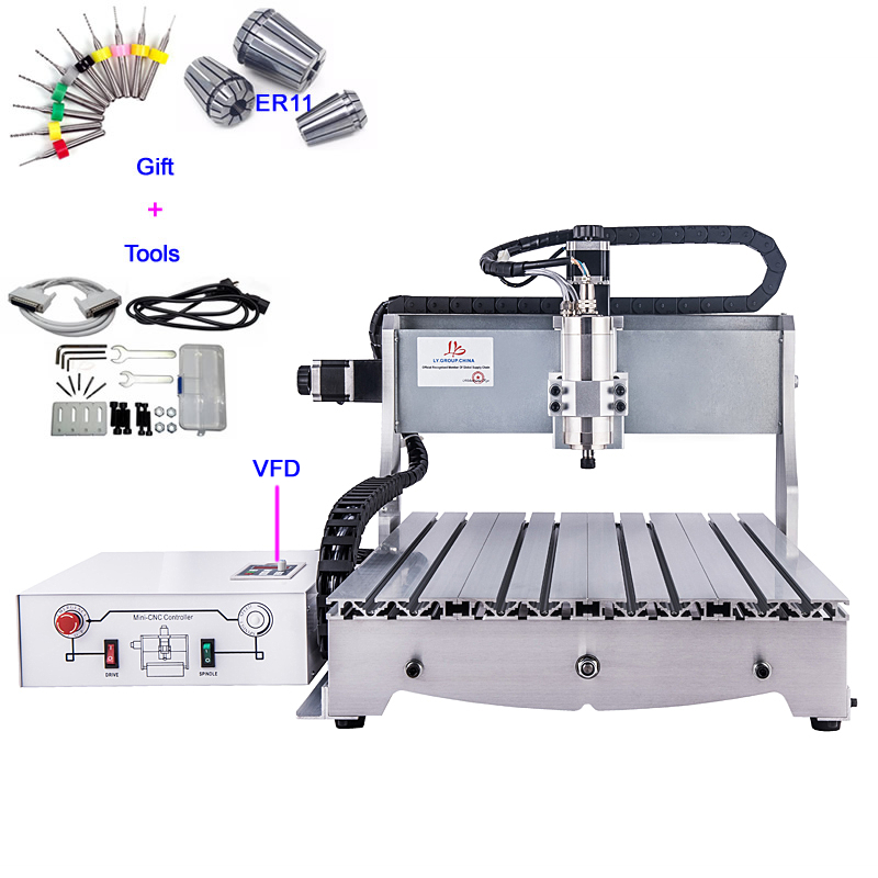cnc wood carving machine 6040Z-D300 woodworking cnc router with ball screw, upgraded from CNC 6040,pcb cnc machine