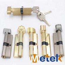 Anti-theft Door Lock Copper Locking Security Core 65 mm-70 mm Door Cylinder with 3 keys door lock Cylinder for interior doors