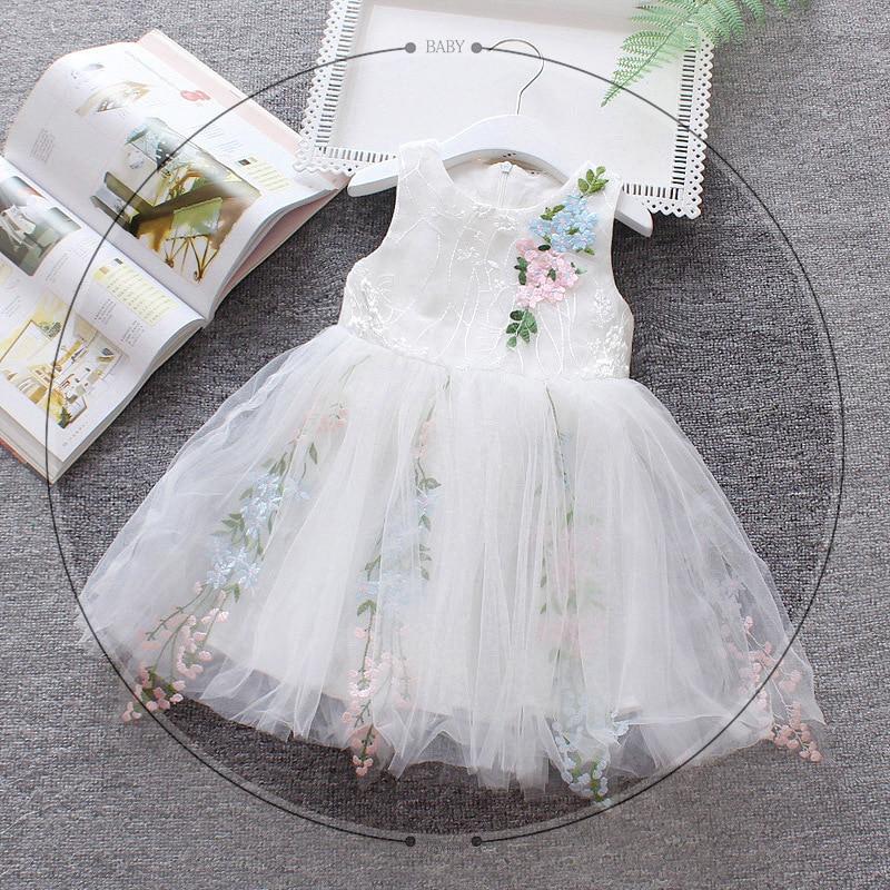 492778021d514a Zomer Prinses jurk Baby. Beste Kopen Baby Meisjes wedding party Kant Tule Bloem  meisje jurken Zomer Strand kinderen Meisjes Jurk Kleine Prinses Tutu bal ...
