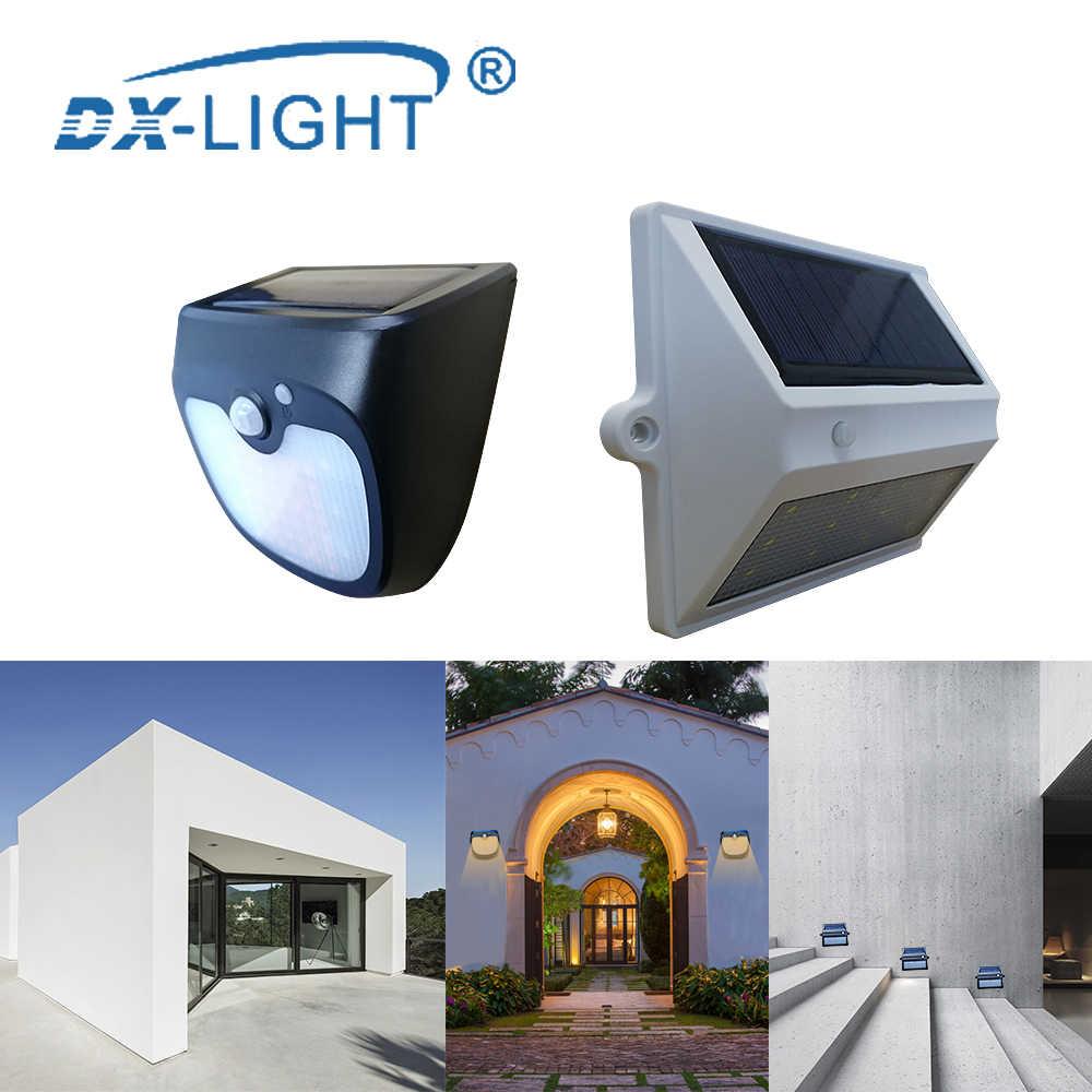 Открытый светодиодный настенный светильник на солнечной батарее движения PIR датчик солнечной лампы 61/12 светодиодный s IP65 Водонепроницаемый человеческого тела Сенсор свет сада