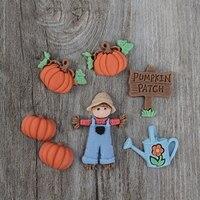 Halloween Épouvantail Citrouille Gâteau Moule Silicone Nicole Décorant L'outil Chocolat Moule Herramientas Modelismo Fournitures 50D0030