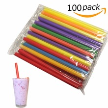100pcs 19CM length drinking straw Pearl milk tea Straw recycle able Pipe children Event & Party Milk sucker