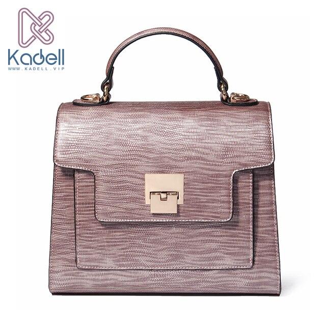 Kadell Для женщин кожа Сумки известный бренд Для женщин Курьерские сумки Повседневное Сумка Высокое качество крокодил Bolsa Сако клапаном сумка