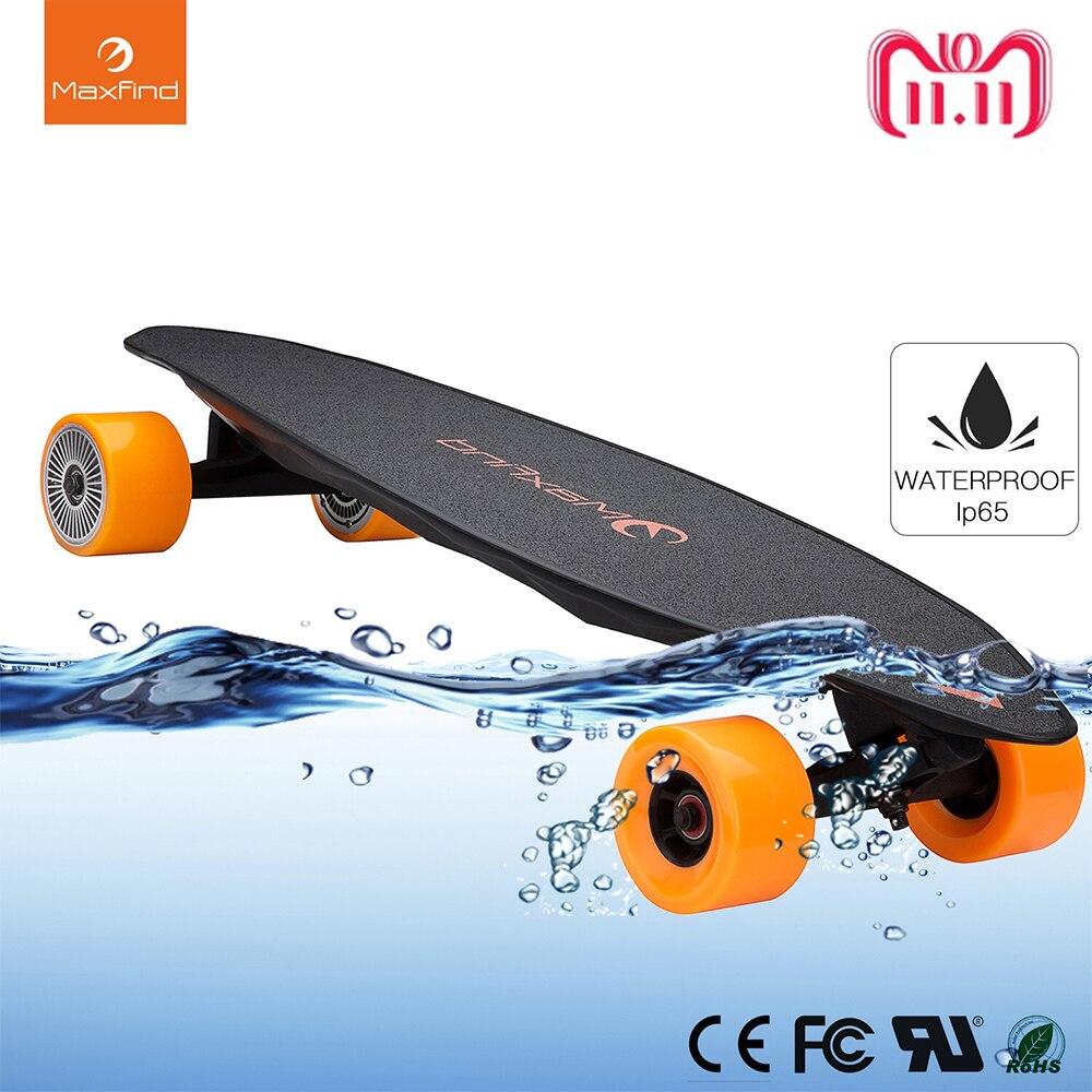 Maxfind elektrisches Skateboard Vierrad-Funkfernsteuerung 2000W Dual Motor