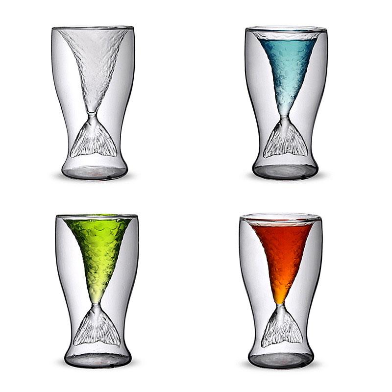 ⊰Envío libre! Nueva creativa 2 capas sirena de cristal botella de ...