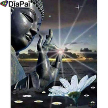 DIAPAI 100% Full Square/Round Drill 5D DIY Diamond Painting Religious Buddha Diamond Embroidery Cross Stitch 3D Decor A18592 diapai 5d diy diamond painting 100% full square round drill text moon buddha diamond embroidery cross stitch 3d decor a21533