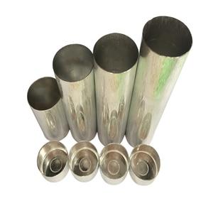 100 PCS Dental Lab Aluminum Cartridge With Lip For Dental Lab Flexible Acrylic Denture Inject Acrylic Work Diameter 25.5mm