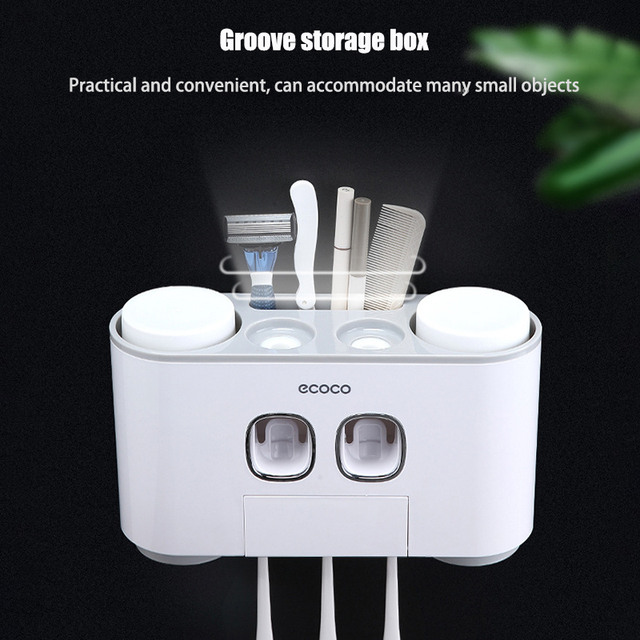 Automatic Toothpaste Dispenser | Toothbrush holder 1
